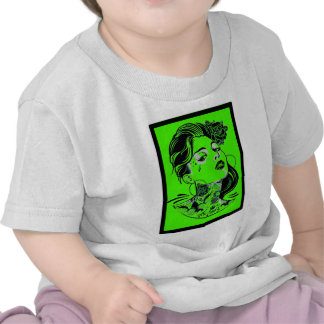 THE WOMAN GREEN T SHIRTS