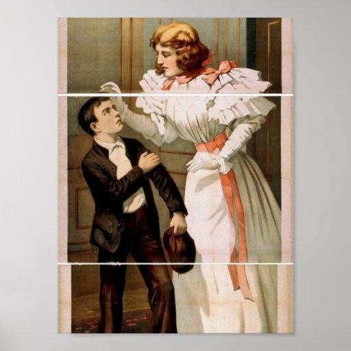 The Woman in Black Retro Theater Poster