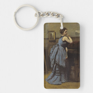 The Woman in Blue, 1874 Keychain