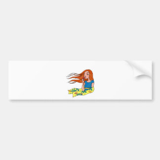 The woman in flowers bumper sticker