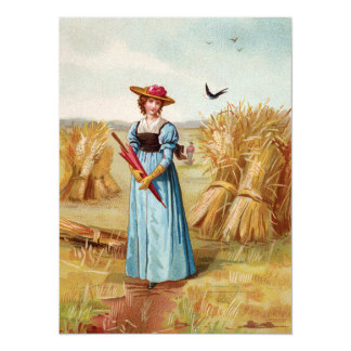 The Woman in the Wheatfield Card