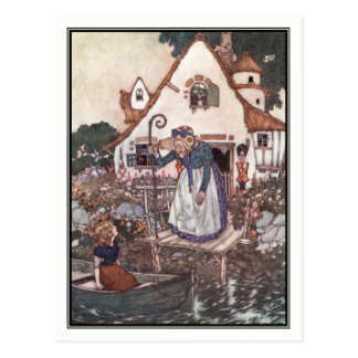 The Woman Learned in Magic by Edmund Dulac Postcard
