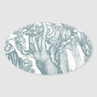 The Woman of Abomination: Durer Oval Sticker