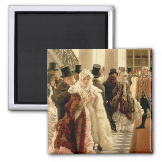 The Woman of Fashion , 1883-5 2 Inch Square Magnet