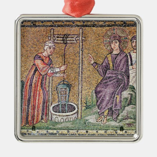The Woman of Samaria at the Well Metal Ornament