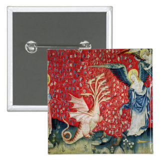 The Woman Receiving Wings to Flee the Dragon 2 Inch Square Button