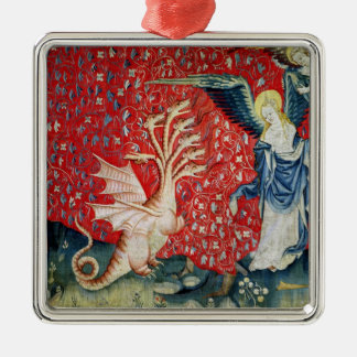 The Woman Receiving Wings to Flee the Dragon Christmas Tree Ornaments