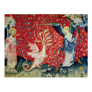 The Woman Receiving Wings to Flee the Dragon Postcard