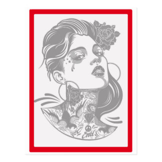 THE WOMAN SIGN POSTCARD