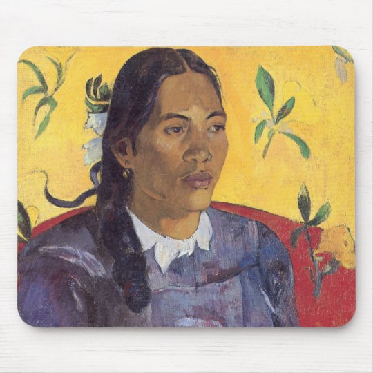 The woman with the flower - Paul Gauguin Mouse Pad