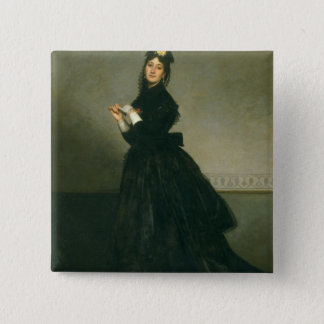 The Woman with the Glove, 1869 Pinback Button