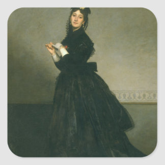 The Woman with the Glove, 1869 Square Sticker