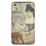 The woman with the powder puff by Georges Seurat iPod Case-Mate Case