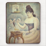 The woman with the powder puff by Georges Seurat Mouse Pad