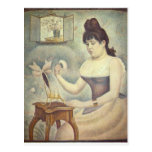 The woman with the powder puff by Georges Seurat Postcard