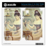 The woman with the powder puff by Georges Seurat Samsung Galaxy S 4G Skins