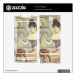 The woman with the powder puff by Georges Seurat Skins For The HTC Pure