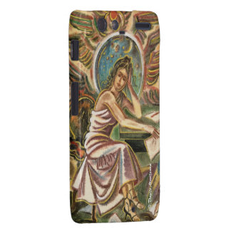 The Woman Writer Thinking Watercolor Painting Droid RAZR Cases