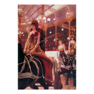 The women in the cars by James Tissot Print