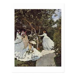 The women in the Garden postcard