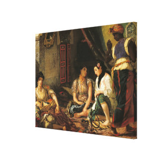 The Women of Algiers in their Apartment, 1834 Canvas Print