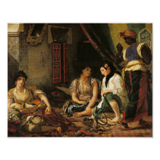 The Women of Algiers in their Apartment, 1834 Poster
