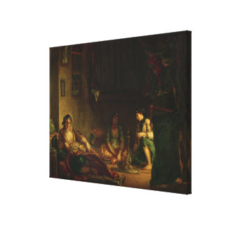 The Women of Algiers in their Harem, 1847-49 Canvas Print