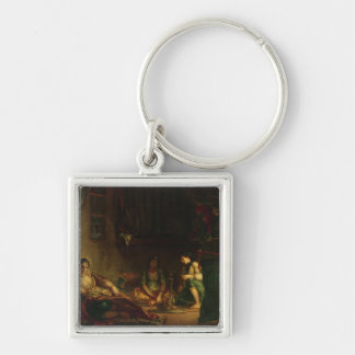 The Women of Algiers in their Harem, 1847-49 Silver-Colored Square Keychain
