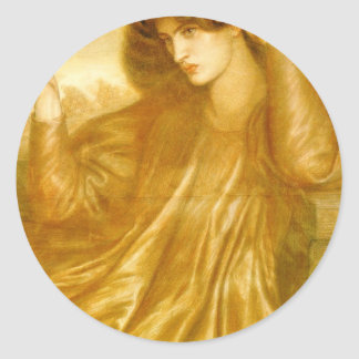 The Women of the Flame by Dante Gabriel Rossetti Classic Round Sticker