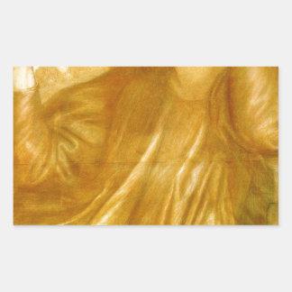 The Women of the Flame by Dante Gabriel Rossetti Rectangular Sticker