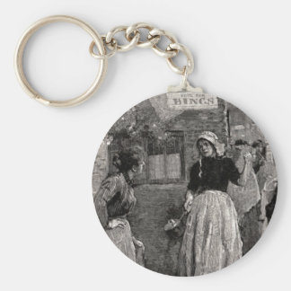 The Women Ran Into The Streets Keychain