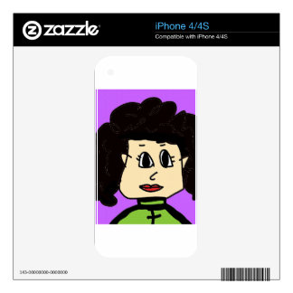 the women with black hair iPhone 4 decal