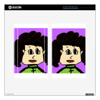 the women with black hair kindle fire decals