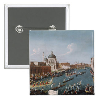 The Women's Regatta on the Grand Canal, Venice Pinback Buttons