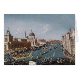 The Women's Regatta on the Grand Canal, Venice Card