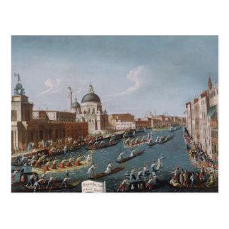 The Women's Regatta on the Grand Canal, Venice Postcard