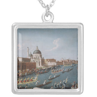 The Women's Regatta on the Grand Canal, Venice Silver Plated Necklace