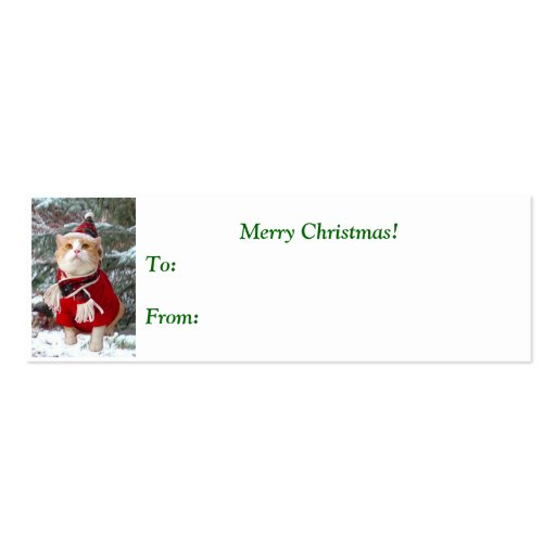 The Wonder of Christmas Gift Tag Business Card