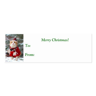 The Wonder of Christmas Gift Tag Mini Business Card