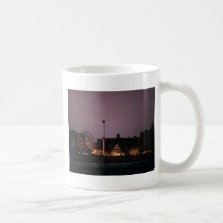 The Wonder Wheel and Cyclone at Night Classic White Coffee Mug