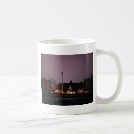 The Wonder Wheel and Cyclone at Night Coffee Mugs