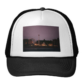 The Wonder Wheel and Cyclone at Night Trucker Hat