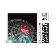 The Wonder Wheel at Night (Coney Is., NY) postage