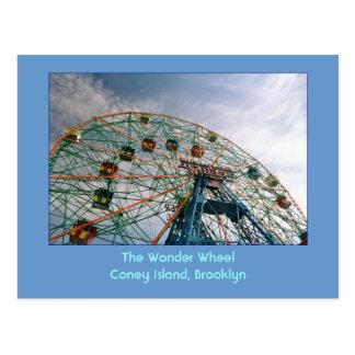 The Wonder Wheel (Coney Island, NY) postcard