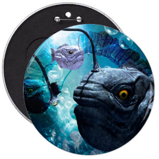The wonderful frogfish pinback button