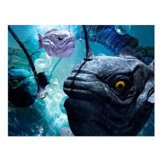 The wonderful frogfish postcard