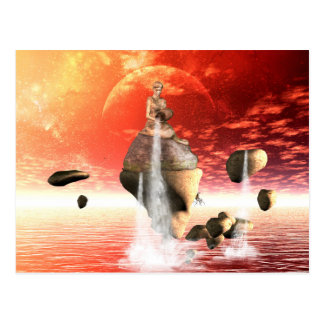 The wonderful sunset postcard
