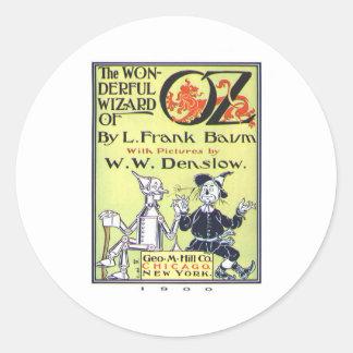 the wonderful wizard of oz classic round sticker