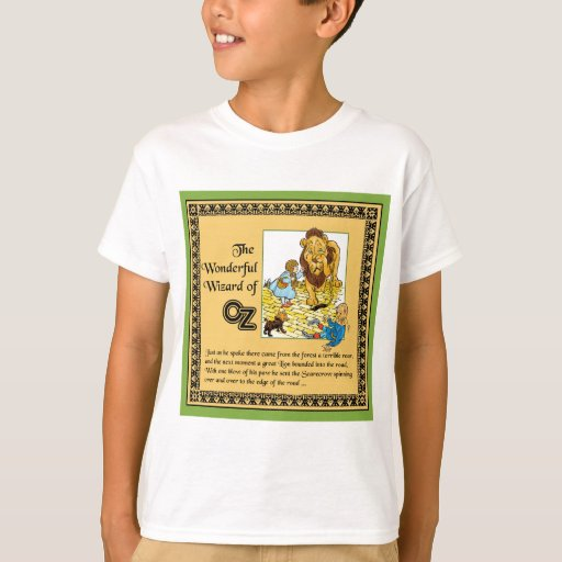 The wonderful wizard of oz t shirt zazzle for Wizard t shirt printing