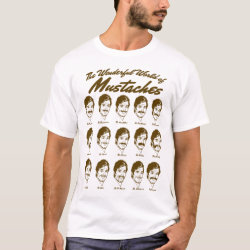 Men's Basic T-Shirt with Wonderful World of Mustaches design
